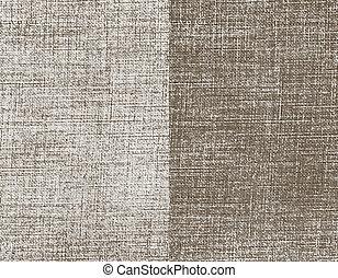Canvas background. Grunge Texture. Vector Illustration