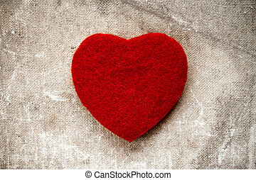 Canvas background with a red heart
