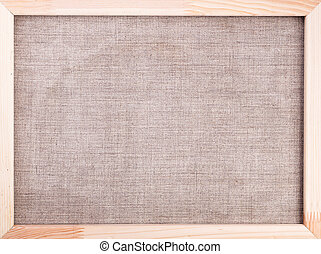 canvas background wooden frame