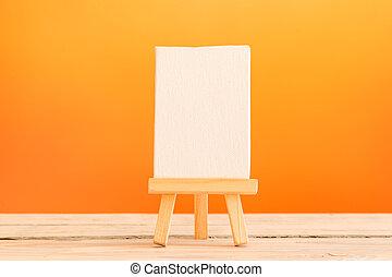 Canvas on a tripod