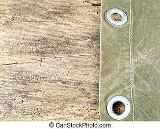Canvas On Wood Table