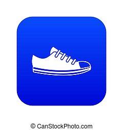 Canvas sneaker icon digital blue