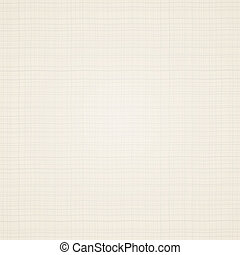 Canvas texture. Beige fabric. Vector illustration