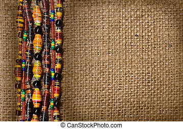 canvas texture with border of beads