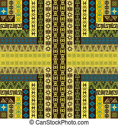 Canvas with ethnic motifs