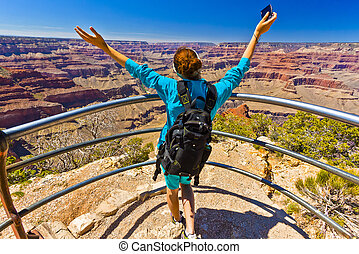 canyon, arizona, vista, grande