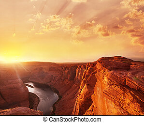 Canyon Colorado river in Arizona