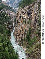 Canyon - Confluent of Ganga (Bhagirathi) close to its source...