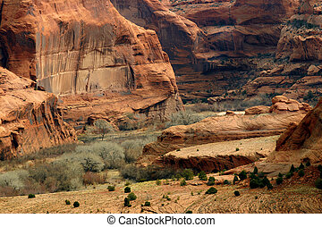 Canyon de Chelly, a national monument north of the Grand ...