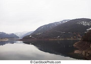 canyon, di, uvac, fiume, serbia