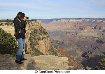canyon, fotografare, grande