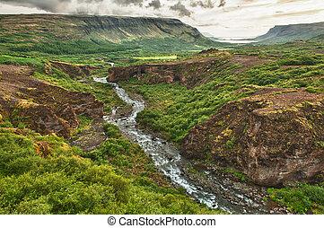 canyon, glymur