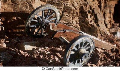 canyon, historique, fusil, pierre, ancien