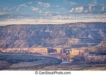 canyon, horsethief, fiume, colorado