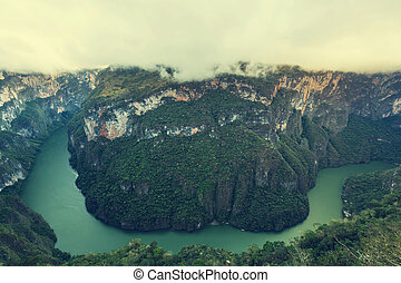 Canyon in Mexico - View from above the Sumidero Canyon in...