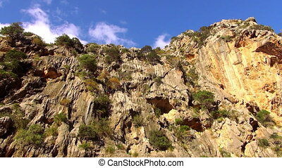 Canyon in the mountains of Mallorca