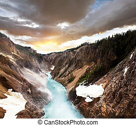 Canyon in Yellowstone