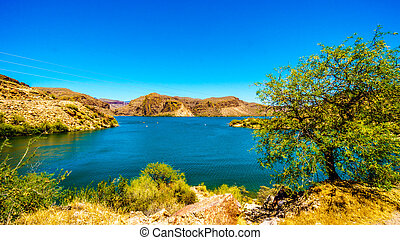 Canyon Lake in the Desert Landscape