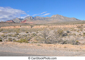 canyon, nevada, rocher rouge