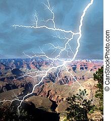 canyon, orage