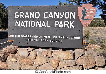 canyon, parco, nazionale, grande