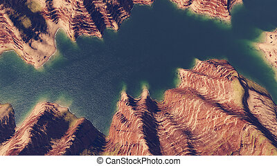 Canyon river aerial view