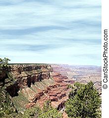 Canyon Slope - Sloping rock formations shot at Grand Canyon...