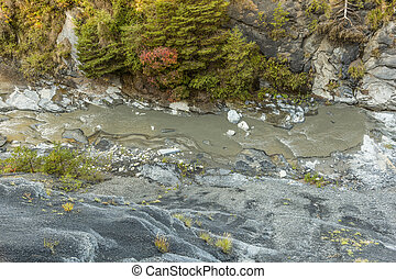 canyon with river La blanche Torrent in France
