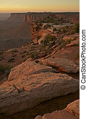 Canyonland Sunset Scenery - Utah State, USA. Canyonlands ...