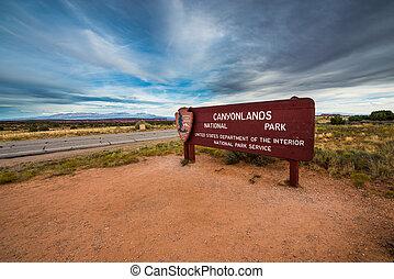 Canyonlands National Park Entrance