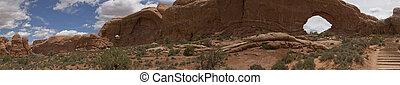 canyonlands, panorama, nacional, utah, arcos, parque, moab