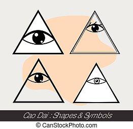 Cao Dai Symbols Vector Illustration