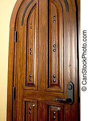 caoba, puerta