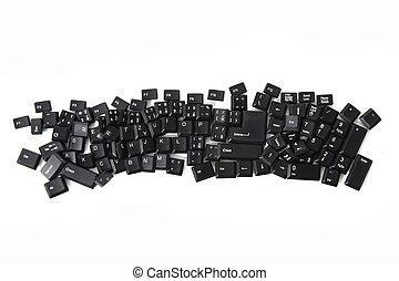 caos, teclado