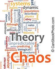 caos, teoria, palavra, nuvem