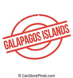 caoutchouc, îles, galapagos, timbre