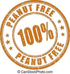caoutchouc, arachide, gratuite, timbre