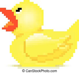 caoutchouc, art, pixel, canard
