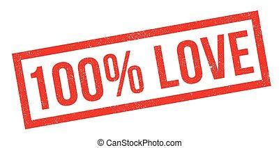 caoutchouc, cent, 100, amour, timbre
