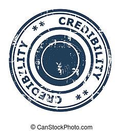caoutchouc, crédibilité, concept, business, timbre