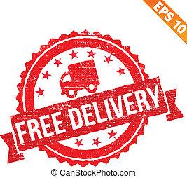 caoutchouc, eps10, timbre, -, gratuite, livraison, vecteur, illustration