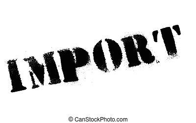 caoutchouc, importation, timbre