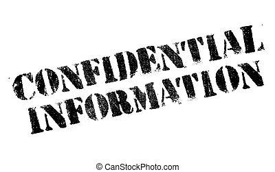 caoutchouc, information, confidentiel, timbre