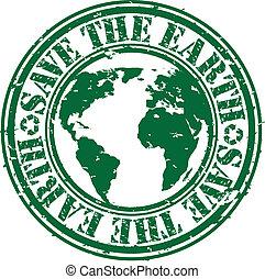 caoutchouc, la terre, sauver, grunge, timbre