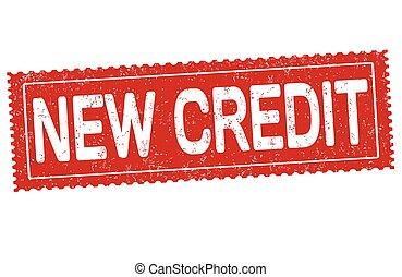 caoutchouc, nouveau, crédit, grunge, timbre