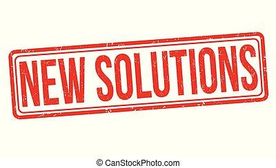 caoutchouc, nouveau, grunge, solutions, timbre