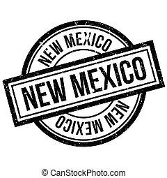 caoutchouc, nouveau mexique, timbre
