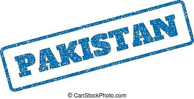caoutchouc, pakistan, timbre