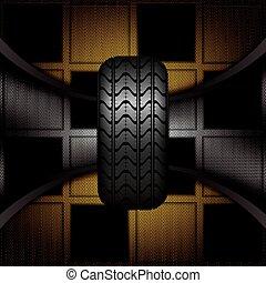 caoutchouc, pneu