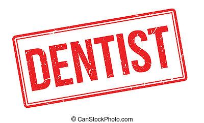 caoutchouc, timbre, dentiste
